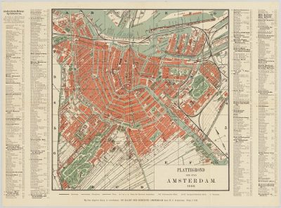 plattegrond amsterdam 1900